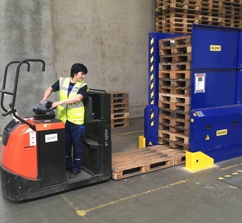 No more manual pallet lifting in DSV warehouse