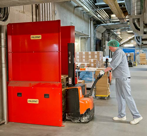 Tulip removes work injury hazard using Danish pallet invention