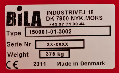CE-marking on the pallet magazine/ pallet dispenser PALOMAT