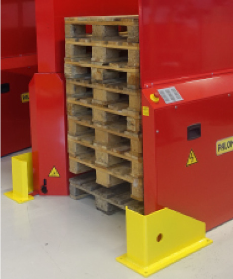 Option - Truck protection for the pallet magazine PALOMAT
