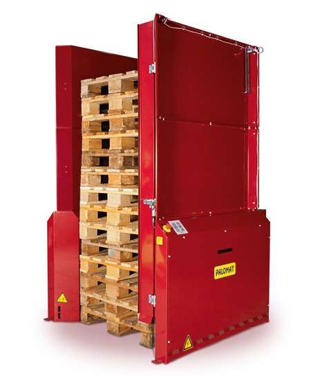 Option - Safety frame with gate for 15 pallets for pallet magazine PALOMAT®